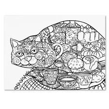 Lunch Cat II' Graphic Art Print on Wrapped Canvas by Trademark