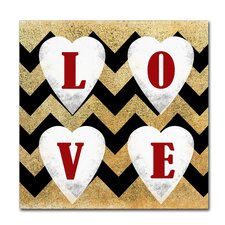Love' Textual Art on Wrapped Canvas by Trademark