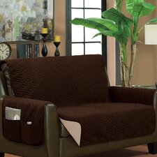 Classic Reversible Quilted Microfiber Sofa Slipcover