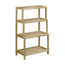 Isetta 4-Tier Stepback 37 Etagere Bookcase by Charlton Home