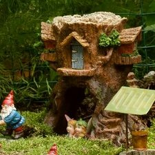 Tree Stump House Statue