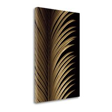 'Tropical Leaf Study I' Graphic Art Print on Wrapped Canvas