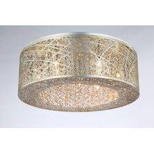 Alya 9-Light Gold/Silver Drum Pendant