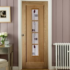 Mackintosh 4 Panel White Oak Veneer Glazed Internal Door