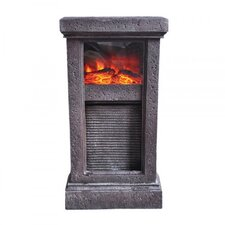 Washboard Fireplace Resin with LED Light