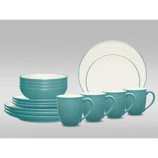 Colorwave Coupe 16 Piece Dinnerware Set, Service for 4
