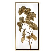Luxe Ginkgo Framed Oil Painting Print by Trisha Yearwood Home Collection