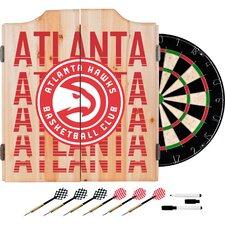 NBA City Dartboard and Cabinet Set