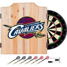 NBA Fade Dartboard and Cabinet Set