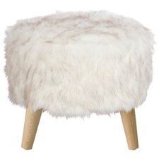 Cherell Round Ottoman with Splayed Legs by Bungalow Rose