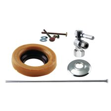 Toilet Kit with Stop and Wax Ring Lever Handle