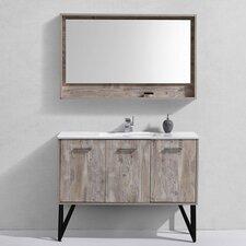 Ellison Nature Wood 48 Single Bathroom Vanity with Mirror by Union Rustic