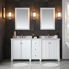 Positano 75 Double Bathroom Vanity Set by Ove Decors