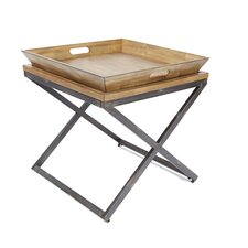 Derrick Industrial End Table by Williston Forge