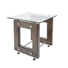 Lorenz Industrial End Table by 17 Stories