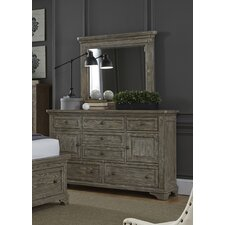 Barkell 7 Drawer Combo Dresser with Mirror by Darby Home Co