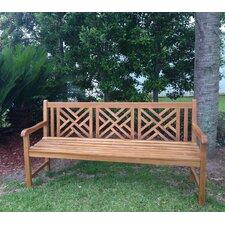 Chippendale Teak Garden Bench