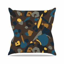 Luvprintz Abstract Leopard Outdoor Throw Pillow by East Urban Home