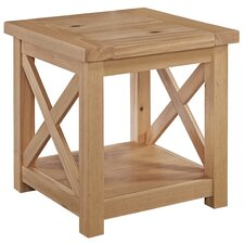 Burbury Country Lodge End Table by Loon Peak