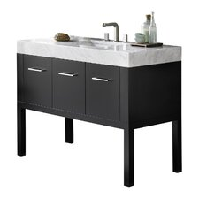 Calabria 37 Single Bathroom Vanity Set with Mirror by Ronbow