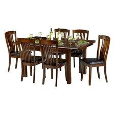 Essgruppe Remsen mit ausziehbarem Tisch und 6 Stühlen