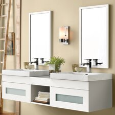 Rebecca 62 Double Bathroom Vanity Set with Mirror by Ronbow