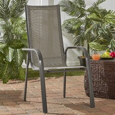 Spafford Aluminum Outdoor Stacking Dining Arm Chair