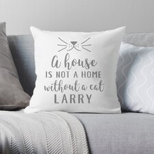 Personalized A House is Not a Home without a Cat Throw Pillow
