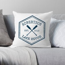Personalized Lake House Throw Pillow