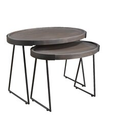 Moyne 2 Piece Nesting Tables by 17 Stories