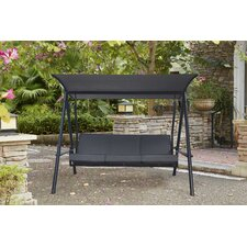 Marine 3-Seat Cushion Porch Swing with Stand