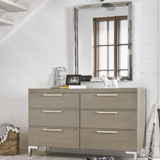 Leland 6 Drawers Dresser with Mirror by Harriet Bee