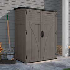 4.4 ft. W x 2.7 ft. D Plastic Vertical Tool Shed