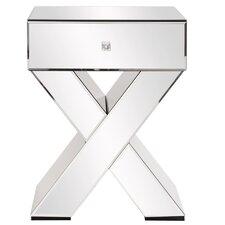 Mara Mirrored X Shaped End Table by Rosdorf Park