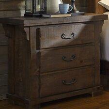 Buckleys 3 Drawer Nightstand by Loon Peak