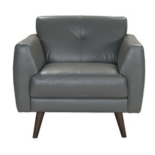 Todd Leather Armchair by Corrigan Studio