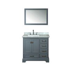 Lucia 36 Single Sink Bathroom Vanity Set with Mirror by Darby Home Co