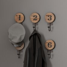 Decorative Numbered Wall Hook (Set of 6) by Trent Austin Design