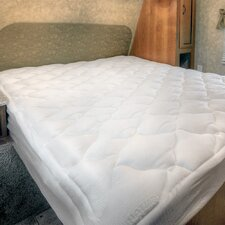 "1.5"" Down Alternative Mattress Pad with Fitted Skirt"
