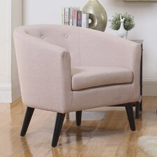 Peterson Tufted Barrel Chair by Ivy Bronx