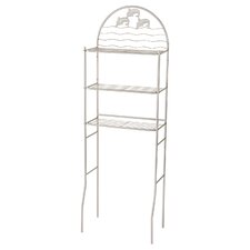 Nakita 3 Shelves 14.5 W x 68.1 H Over the Toilet Storage by Highland Dunes