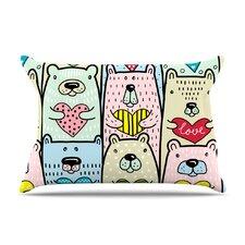 Snap Studio 'Bear Hugs' Animal Illustration Pillow Case