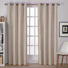 Birch Harbor Solid Semi-Sheer Thermal Grommet Curtain Panels (Set of 2)