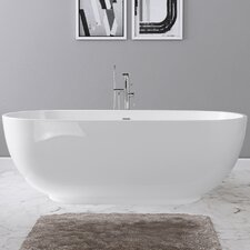 Clara 71 x 32 Freestanding Soaking Bathtub by Maykke