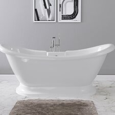 Dorothy 69 x 28 Freestanding Soaking Bathtub by Maykke