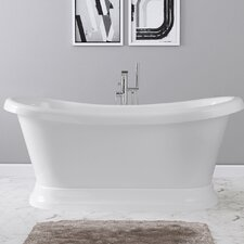 Evelyn 65 x 28 Freestanding Soaking Bathtub by Maykke