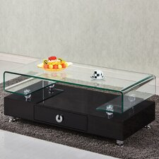 Griffith Glass Top Coffee Table by Orren Ellis