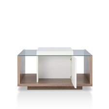 Hendrix Contemporary Coffee Table with Magazine Rack