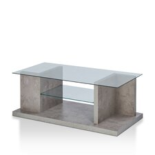 Quaid Contemporary Coffee Table with Magazine Rack by Enitial Lab