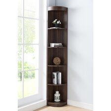 Felucia Transitional 77'' Corner Unit Bookcase